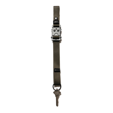 hobo Nylon Tape Key Ring with Utility Buckle Olive, Accessories