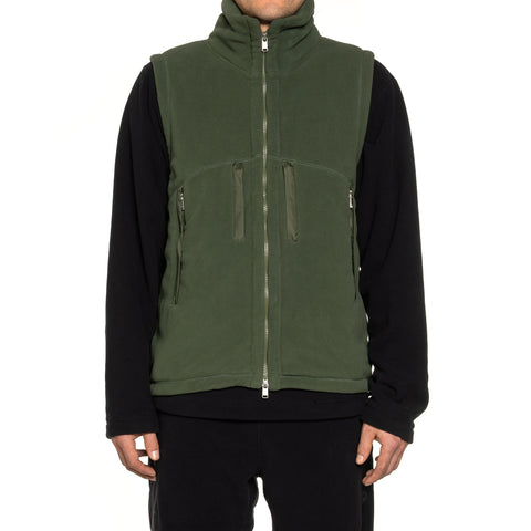 nonnative Alpinist Vest Poly Fleece Polartec Olive, Outerwear