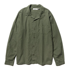 nonnative Bowler Shirt Cotton Typewriter Olive, Shirts