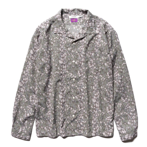 nonnative Bowler Shirt Poly Broad Liberty Print Gray, Shirts