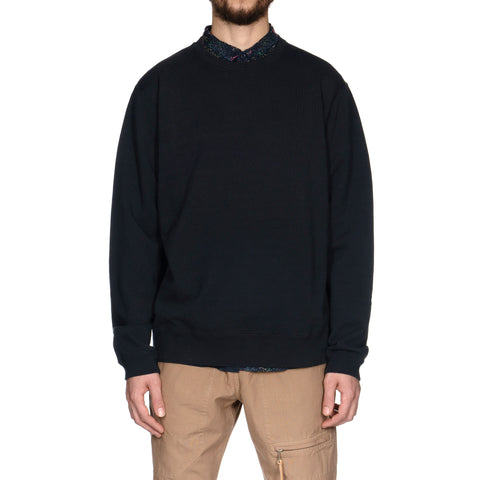 nonnative Coach Crew Pullover Cotton Sweat Overdyed Navy, Sweaters