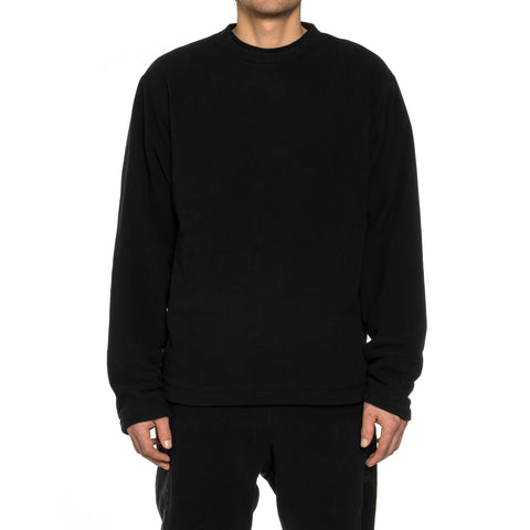 nonnative Coach Crew Pullover Poly Fleece Polartec Black, Outerwear