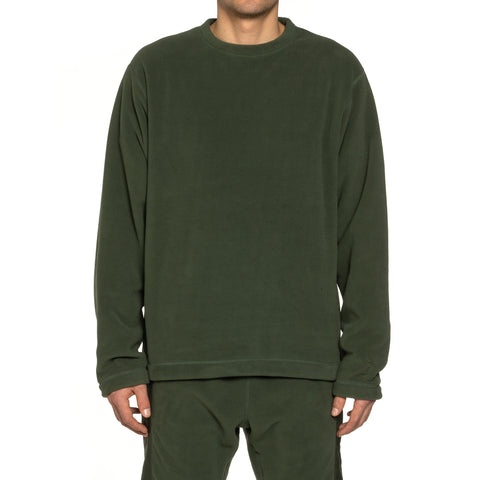 nonnative Coach Crew Pullover Poly Fleece Polartec Olive, Outerwear