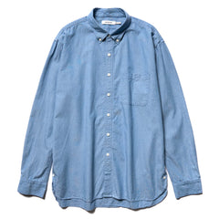 nonnative Dweller B.D. Shirt Relaxed Fit Cotton Chambray Blue, Shirts