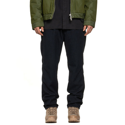 nonnative Dweller Easy Pants Relax Fit Poly Tweed Glen Plaid Navy, Bottoms