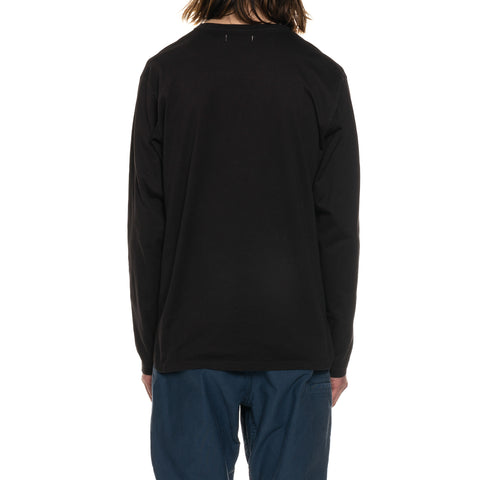 nonnative Dweller L/S Tee Cotton Jersey Overdyed Black, T-Shirts