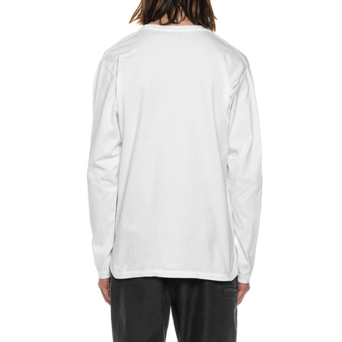 nonnative Dweller L/S Tee Cotton Jersey Overdyed White, T-Shirts