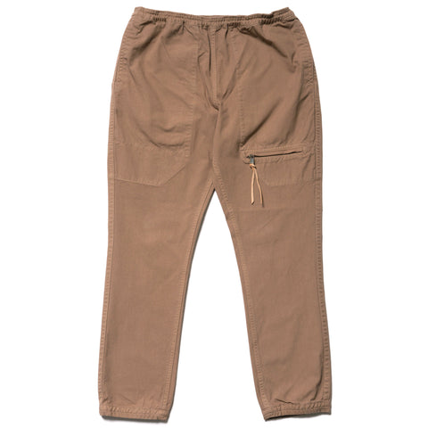 nonnative Educator Easy Rib Pants Cotton Oxford Overdyed Beige, Bottoms