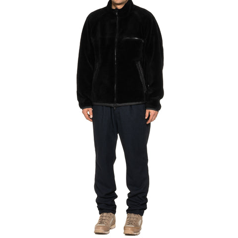 nonnative Explorer 2Way Jacket Acrylic Pile with Poly Ripstop Dicros Dew Black, Outerwear