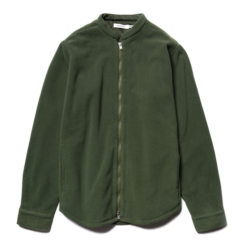 nonnative Hiker Full Zip Shirt Jacket Poly Fleece Polartec Olive, Outerwear