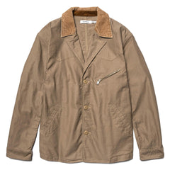 nonnative Rancher Coat Cotton Compact Cord Beige, Outerwear