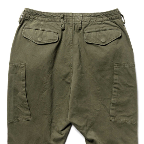 nonnative Trooper 6P Trousers Relaxed Fit Cotton Back Satin Olive, Bottoms