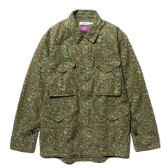 nonnative Trooper Jacket Cotton Back Satin Liberty Print Olive, Outerwear