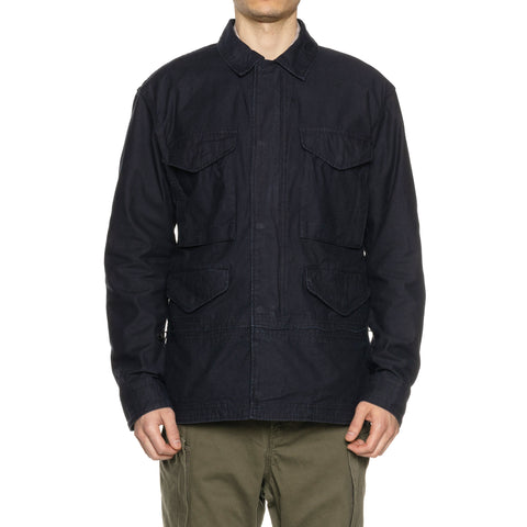 nonnative Trooper Jacket Cotton Back Satin Navy, Outerwear