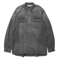 nonnative Worker Pullover Shirt Relaxed Fit Cotton 7.2oz Denim VW Black, Tops