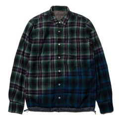 sacai Check Shirt Blue x Green, Tops
