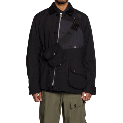 sacai Cotton Oxford Blouson Black, Outerwear