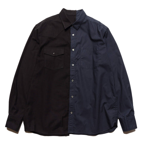 sacai Cotton Poplin Shirt Black, Shirts