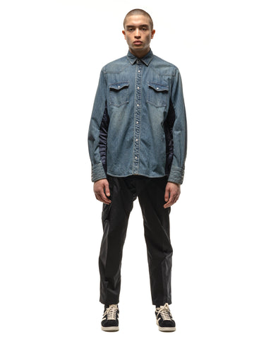 sacai Denim Shirt Lt.Blue x Navy, Shirts