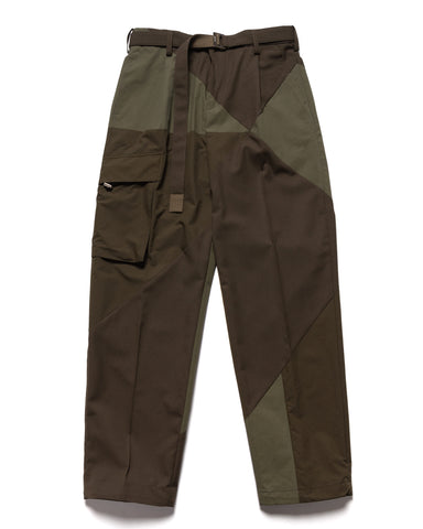 sacai Hank Willis Thomas / Solid Mix Pants Khaki, Bottoms