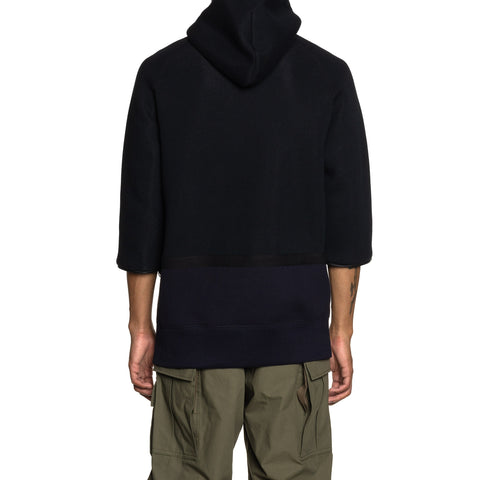 sacai Sponge Sweat Pullover Black x Navy, Sweaters