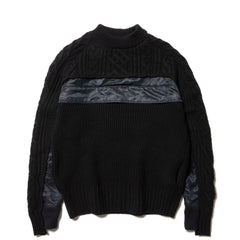 sacai Wool Pullover Black, Sweaters