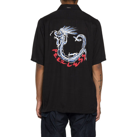 visvim Free Edge Shirt S/S (Rayon) Black, Shirts