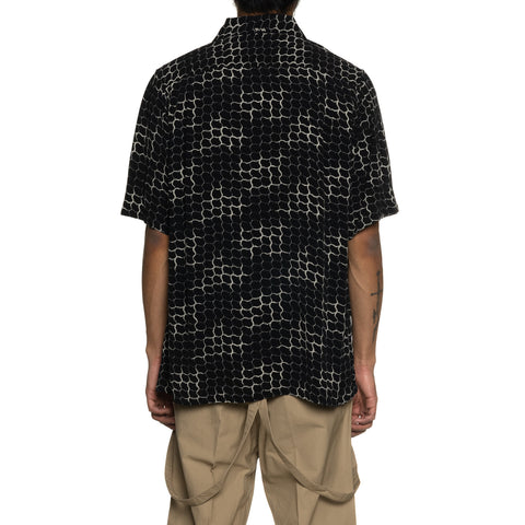 visvim Free Edge Shirt S/S Lattice Black, Shirts