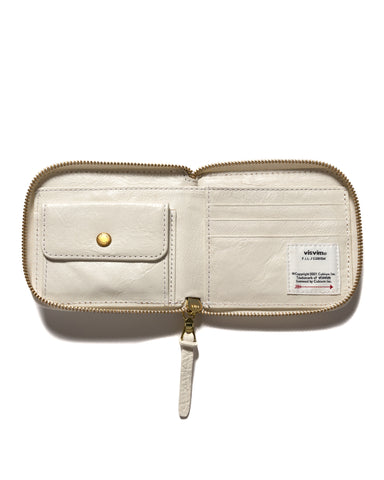 visvim Leather Bi-Fold Wallet Ivory, Accessories