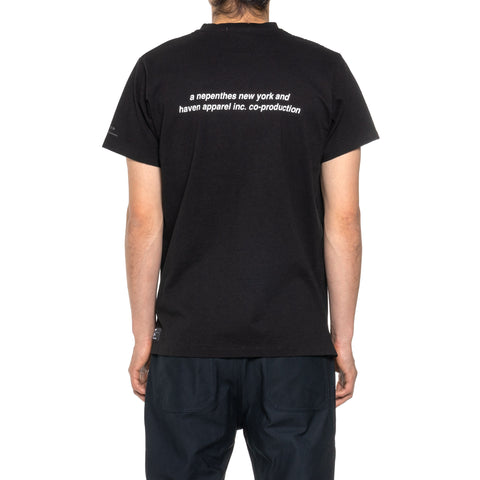 HAVEN / Engineered Garments Reflective Spec T-Shirt Black, T-Shirts
