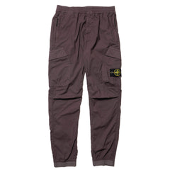 Stone Island Stretch Cotton Tela Paracadute Garment Dyed 2 Pocket Stretch Waist Cuff Pant Pewter, Bottoms