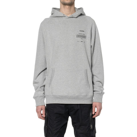 HAVEN / Worship Stacked Pullover Hoodie - Cotton Terry Gray, Sweaters