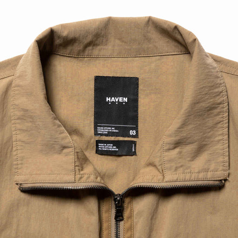 HAVEN Training Jacket - Cotton Nylon Ripstop Beige, Outerwear