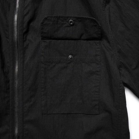 HAVEN Training Jacket - Cotton Nylon Ripstop Black, Outerwear
