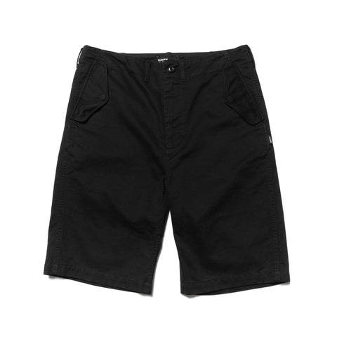 HAVEN Field Shorts - Cotton Army Cloth Black, Bottoms