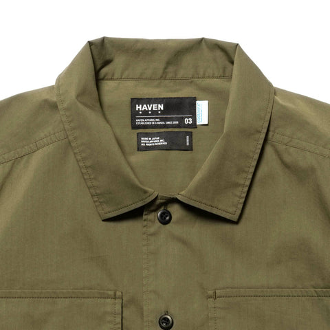 HAVEN Field Shirt S/S - COOLMAX® Cotton Polyester Olive, Shirts