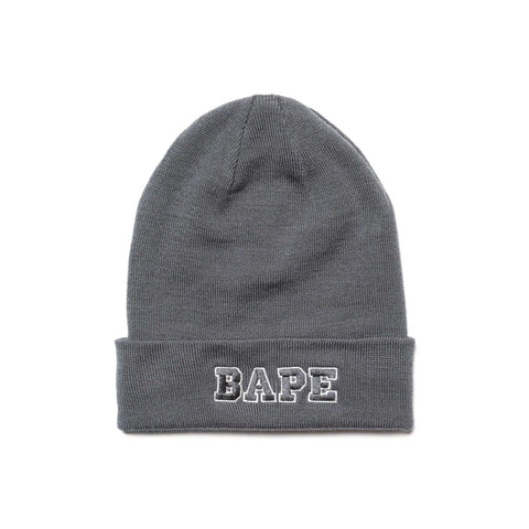 ... Headwear A BATHING APE Ape Head One Point Knit Cap Gray 8310ae74bbc