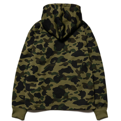 A BATHING APE 1st Camo College Wide Pullover Hoodie Green, Sweaters