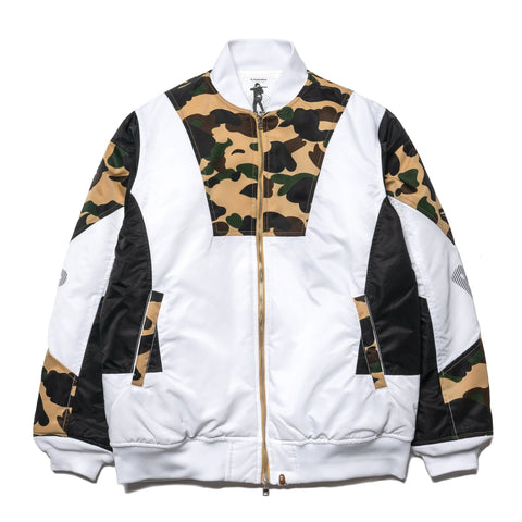 A BATHING APE 1st Camo Color Block Down Jacket Yellow, Jackets