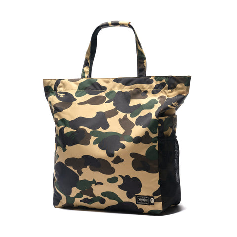 A BATHING APE x PORTER 1st Camo Tote Bag Yellow, Bags
