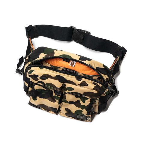 A BATHING APE x PORTER 1st Camo Waist Bag Yellow, Accessories