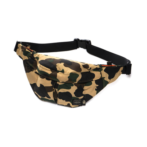 A BATHING APE x PORTER 1st Camo Waist Bag (S) Yellow, Bags
