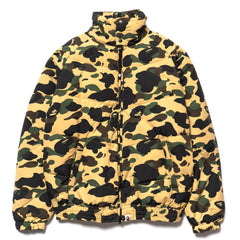 a bathing ape bape 1st Camo Down Jacket Yellow