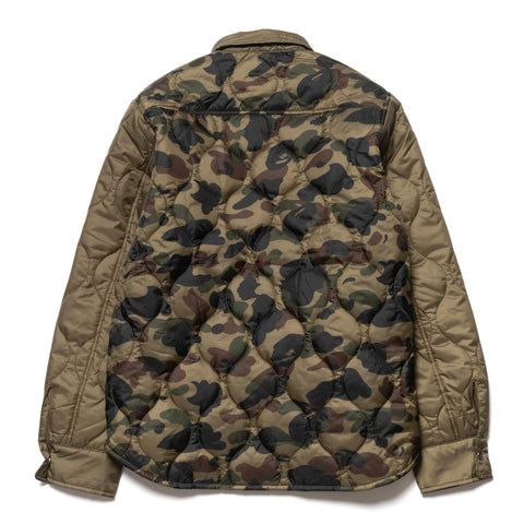 a bathing ape bape 1st Camo Quilting Jacket Green