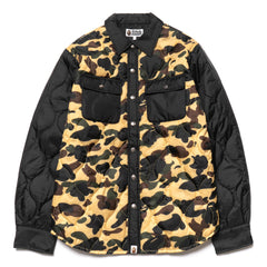 a bathing ape bape 1st Camo Quilting Jacket Yellow