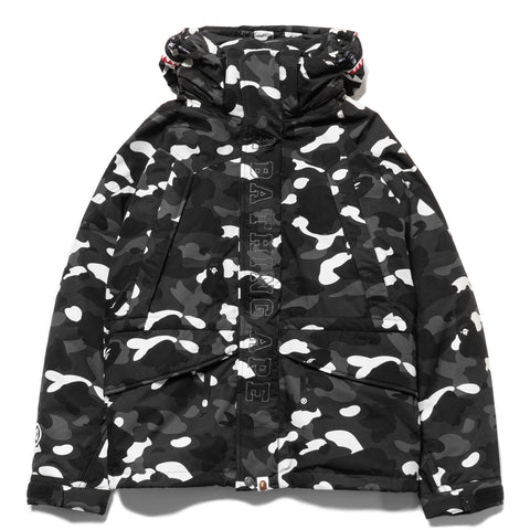 a bathing ape bape City Camo Shark Snowboard Down Jacket Black