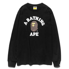 a bathing ape bape College L/S Tee Black