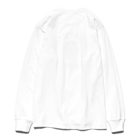 A BATHING APE College L/S Tee White, T-Shirts