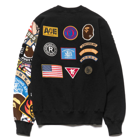 a bathing ape bape Patched Crew Neck Black