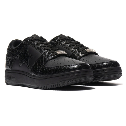 A BATHING APE Snake Bape Sta Low M2 Black, Footwear